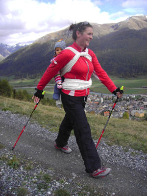 Nordic walking avec bébé